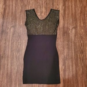 Black and Gold American Apparel Dress